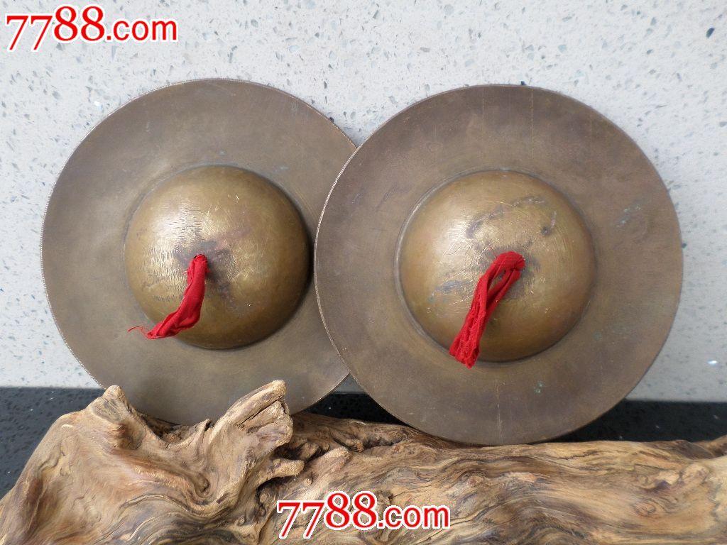 玩铜器老旧金属制品民族乐器纯铜黄响铜镲视频丹陨杂项图片