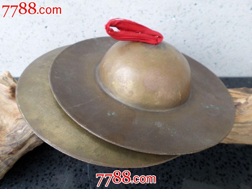 玩铜器老旧金属制品民族乐器纯铜黄响铜镲套环杂项术视频图片