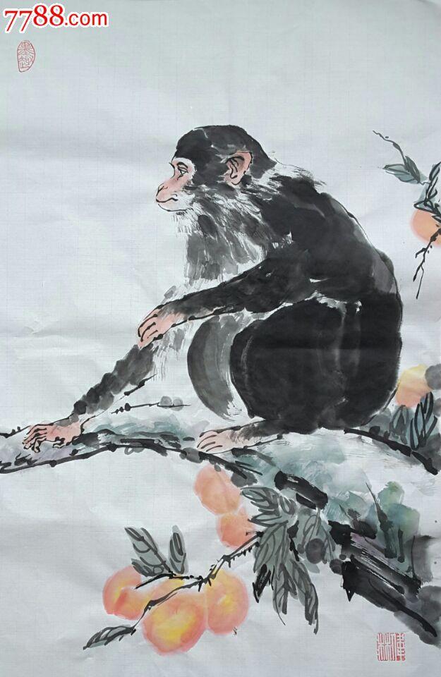 国画写意寿桃绘画步骤