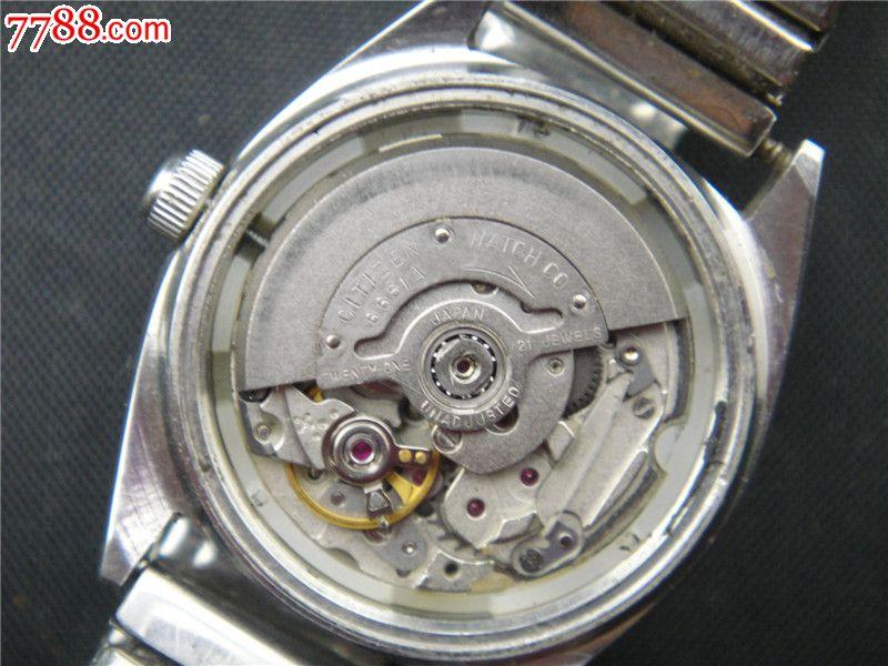ahungse_好品全自动双日历西铁城女机械表机芯6651a-se-7788