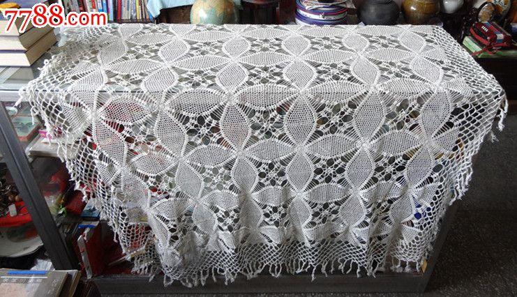 精品朝鲜高丽老手工钩织品苫被单民俗品