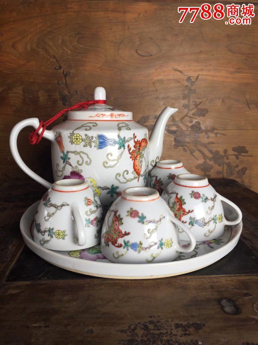 60--70年代景德镇手绘茶具