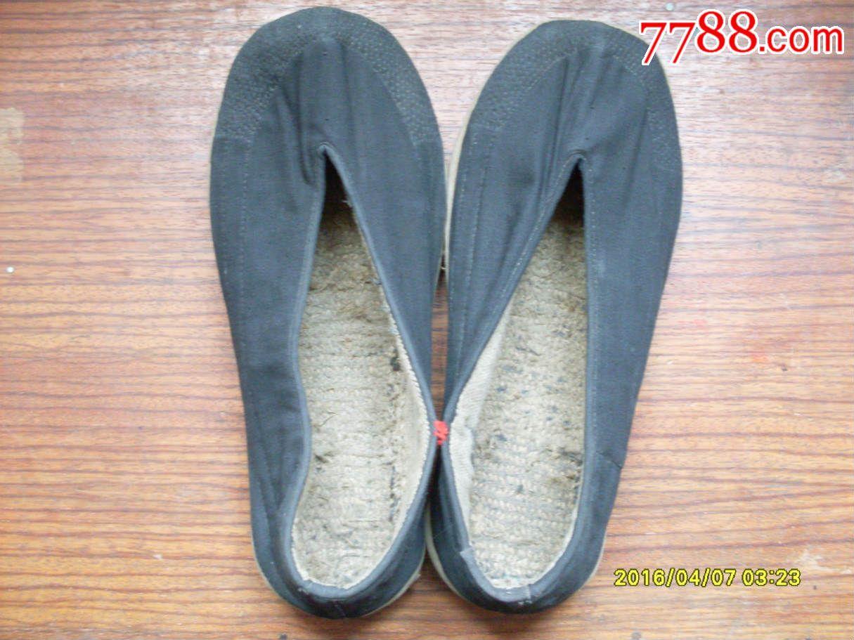 纯手工千层底圆口布鞋