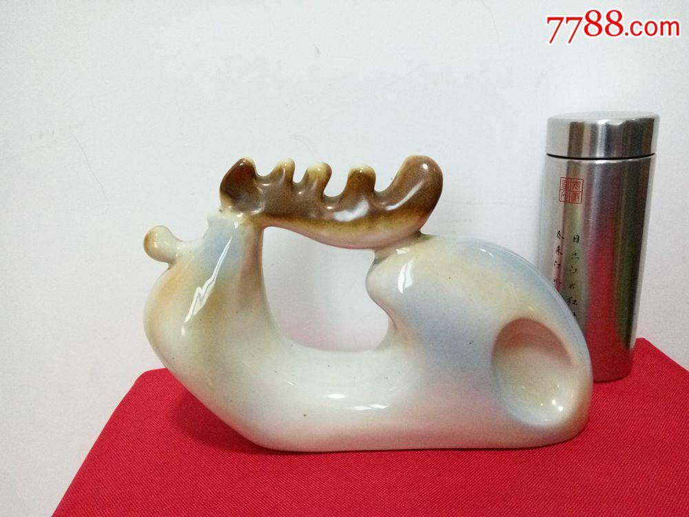 70年代动物瓷器淮南陶瓷韩美林摆件十二生鸡