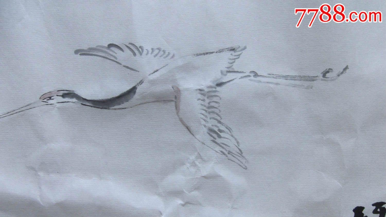 写意人物画国画文人画琴鹤回乡图,画的挺随意的,有几十年功底