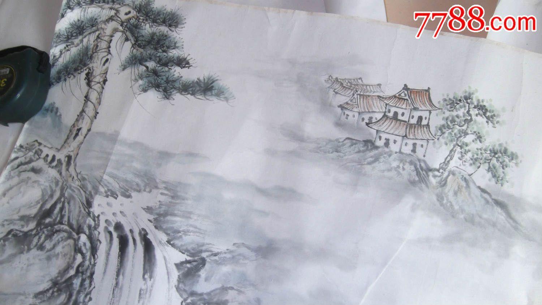 人物画国画八仙过海图,尺寸大,水平高,工笔细腻功力好