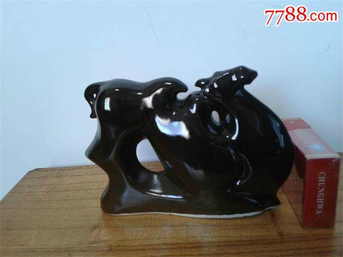 70年代动物瓷器淮南陶瓷韩美林摆件t骆驼