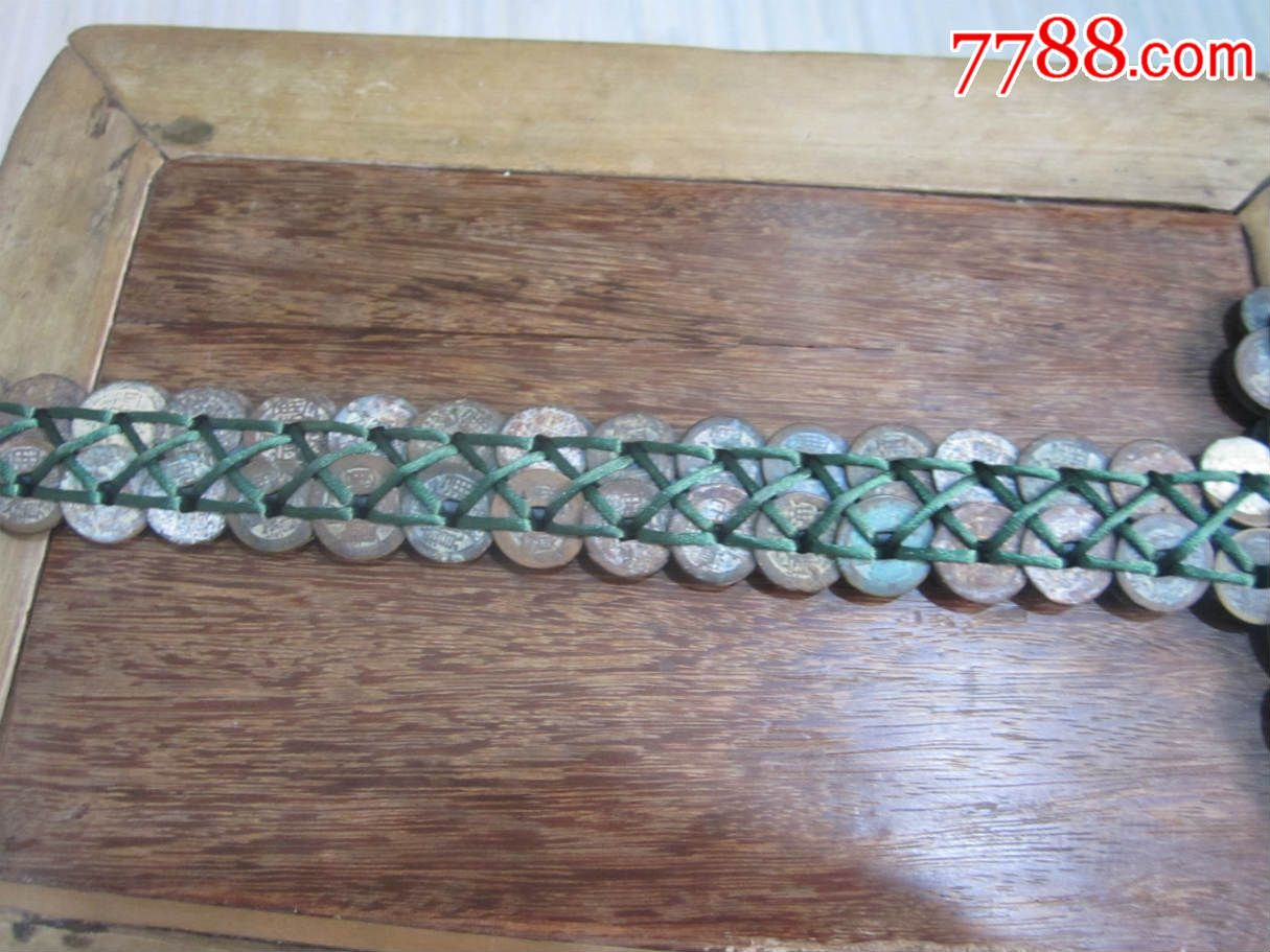 清代铜钱编的青铜剑铜币200枚编制的