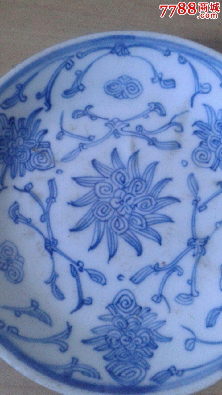 民国手绘青花瓷盘