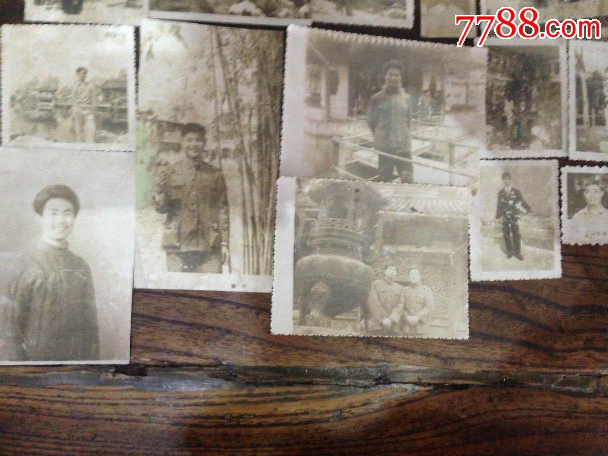 古董古玩收藏雜項近代老照片蘇州園林風景人物照片