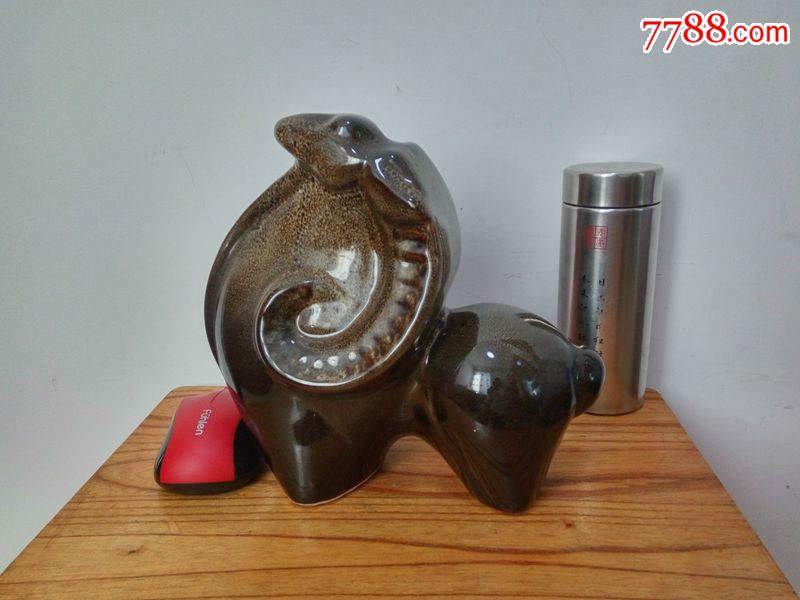 70-80年代陶瓷动物瓷器摆件十二生肖羊