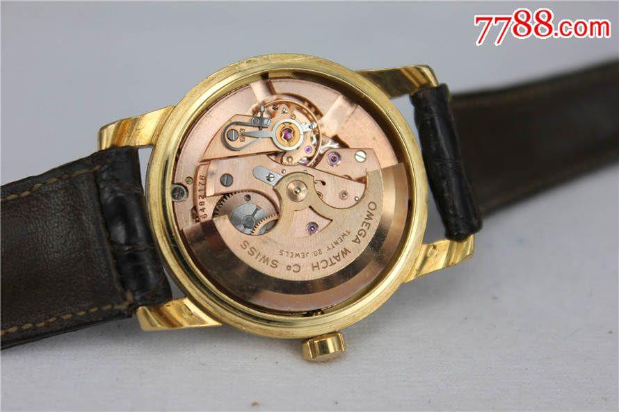 好品18k实金古董欧米茄海马系列苍蝇刻度盘面全自动手表全套图片