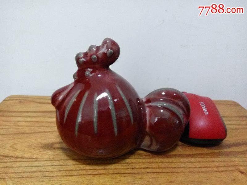 70年代动物瓷器陶瓷非韩美林摆件十二生肖小鸡