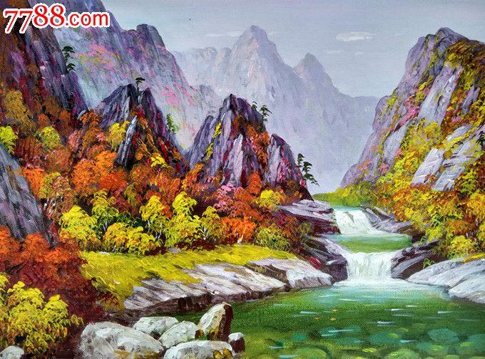 朝鲜人民画家廉泰顺风景油画