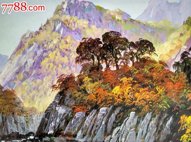 朝鲜人民画家文秀哲风景油画