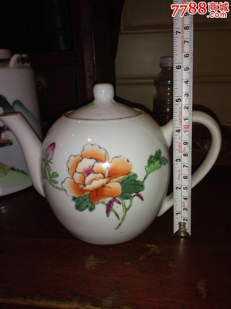 文革景德镇手绘茶壶