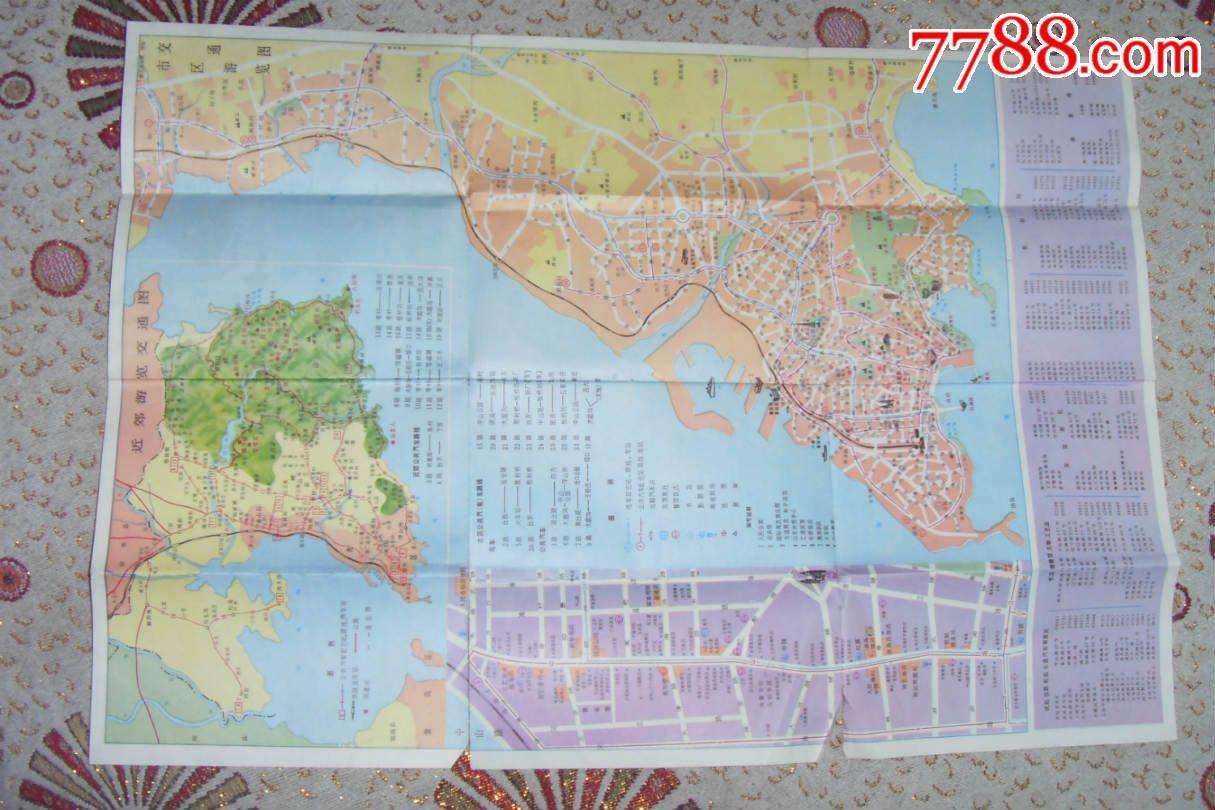 青岛游览交通图(1984年)图片