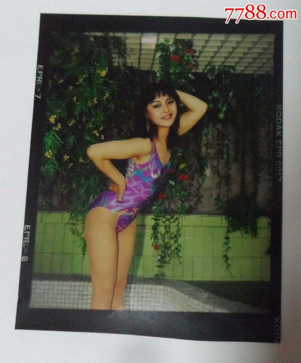 美人模特摄影挂历原版彩色底片,辽宁美术出版社八十年代中期