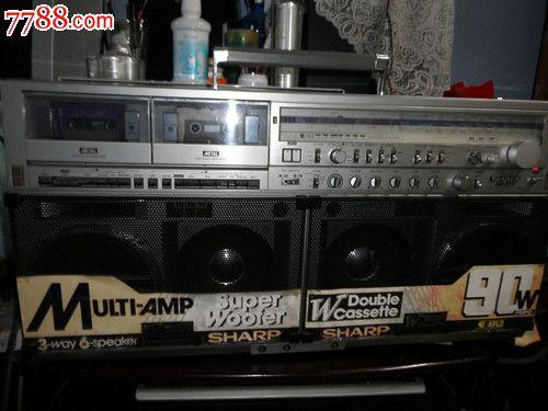 日本原装sharp-gf777夏普收录机