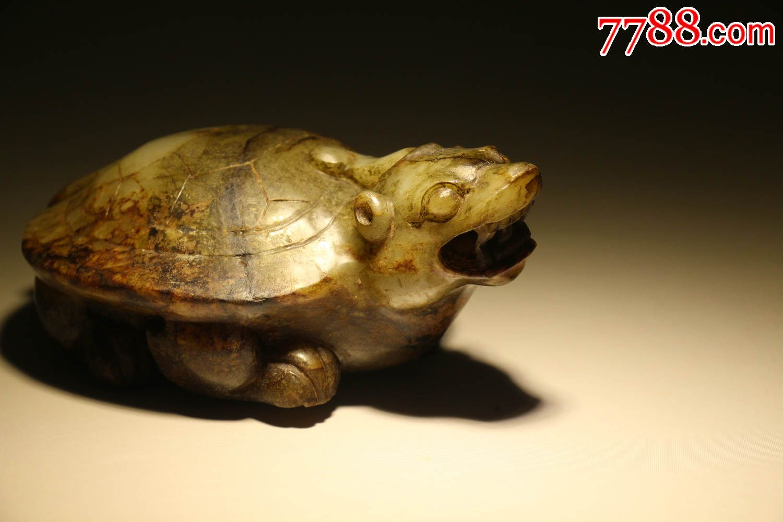 战汉时期高古玉古玉玄武古兽手把件玩件包老到代