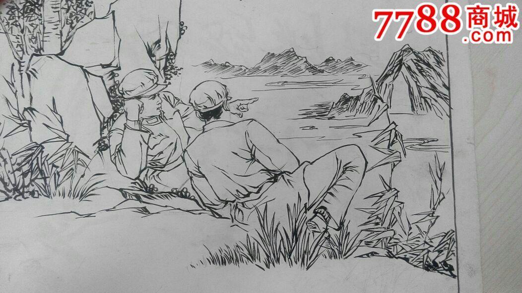 连环画手绘原稿画-21