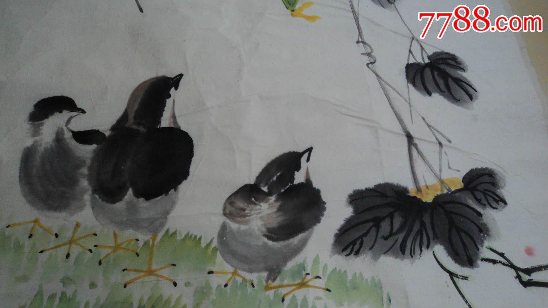 丝瓜小鸡国画_第4张_7788收藏__中国收藏热线图片