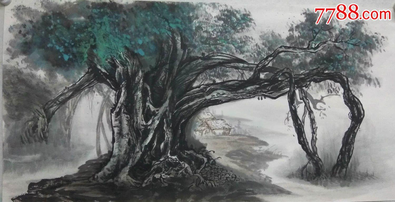 董缕静纯手绘山水国画