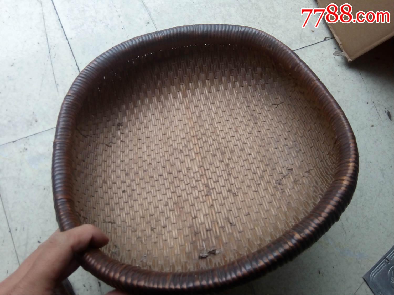 民俗收藏老蒲篓老百姓手工编织的老圆篓粮食篓筐子古玩杂项老物件