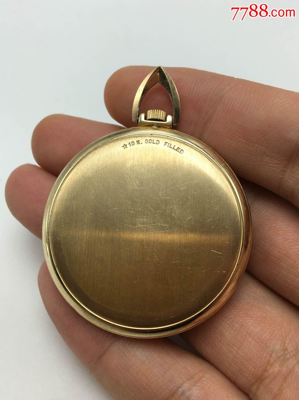 欧米茄包金古董老怀表可以走时带日历!直径42mm!图片
