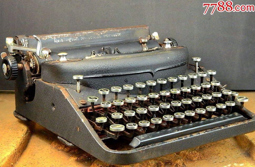 美国古董remington雷明顿deluxe无声便携式打字机