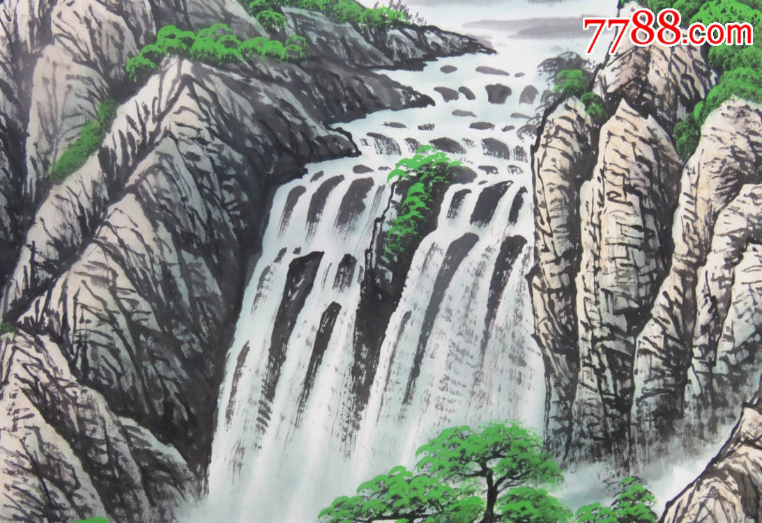 陈克树老师纯手绘山水画:春和日丽,国画,风水画,客厅办公室悬挂