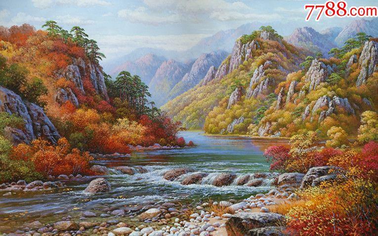 朝鲜画家俞成风景油画