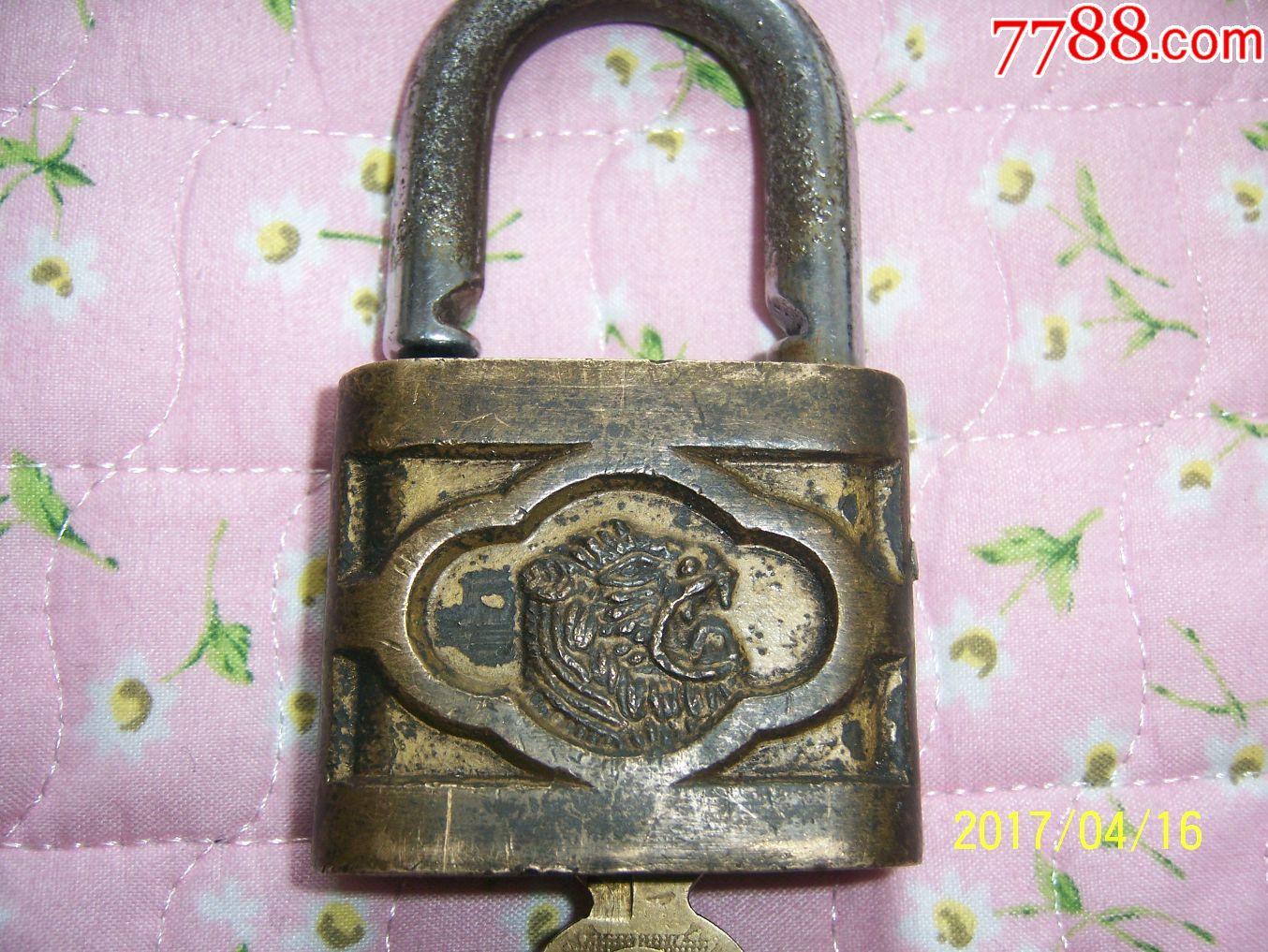 鎏金虎头铜锁(se50467333)_