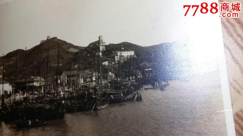 民国或解放初老照片湖边风景