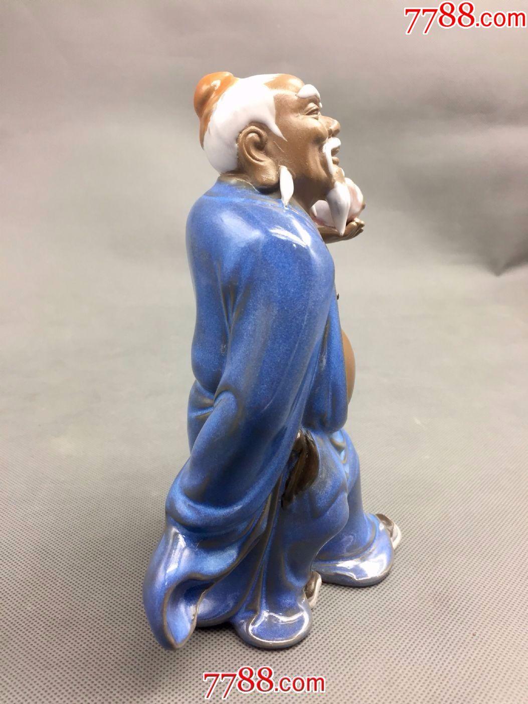 石湾窑高士人物雕塑(东方朔偷桃)图片