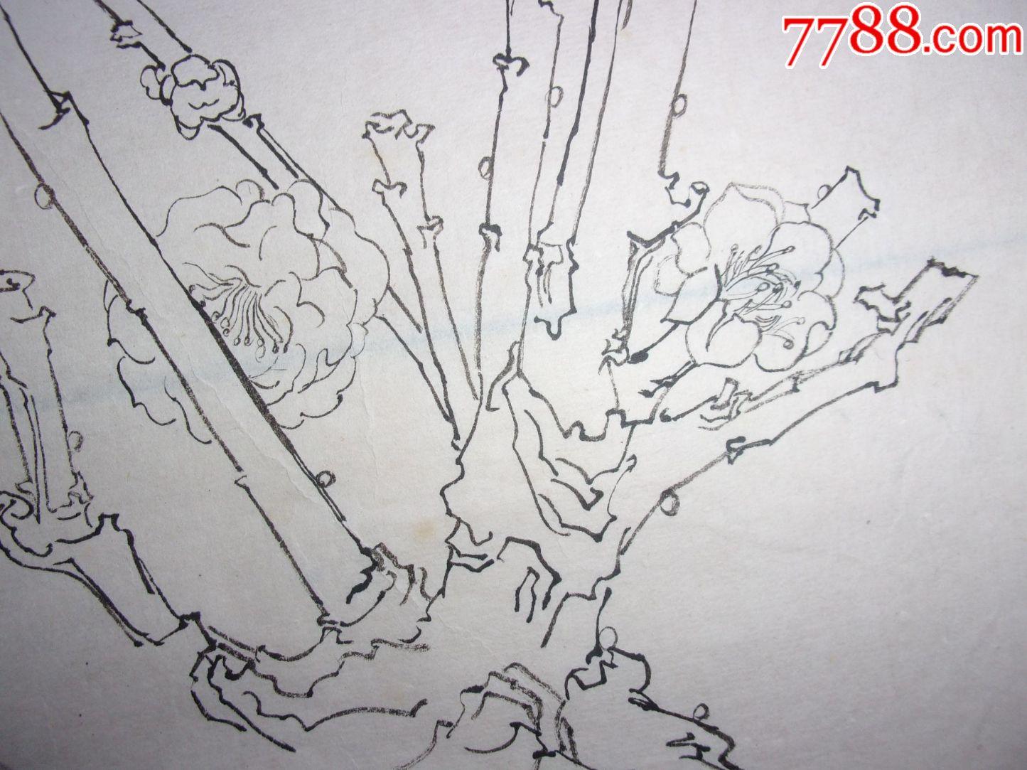 名家工笔白描花鸟画国画,陈俊荣是原潮州市工艺美术研究院院长