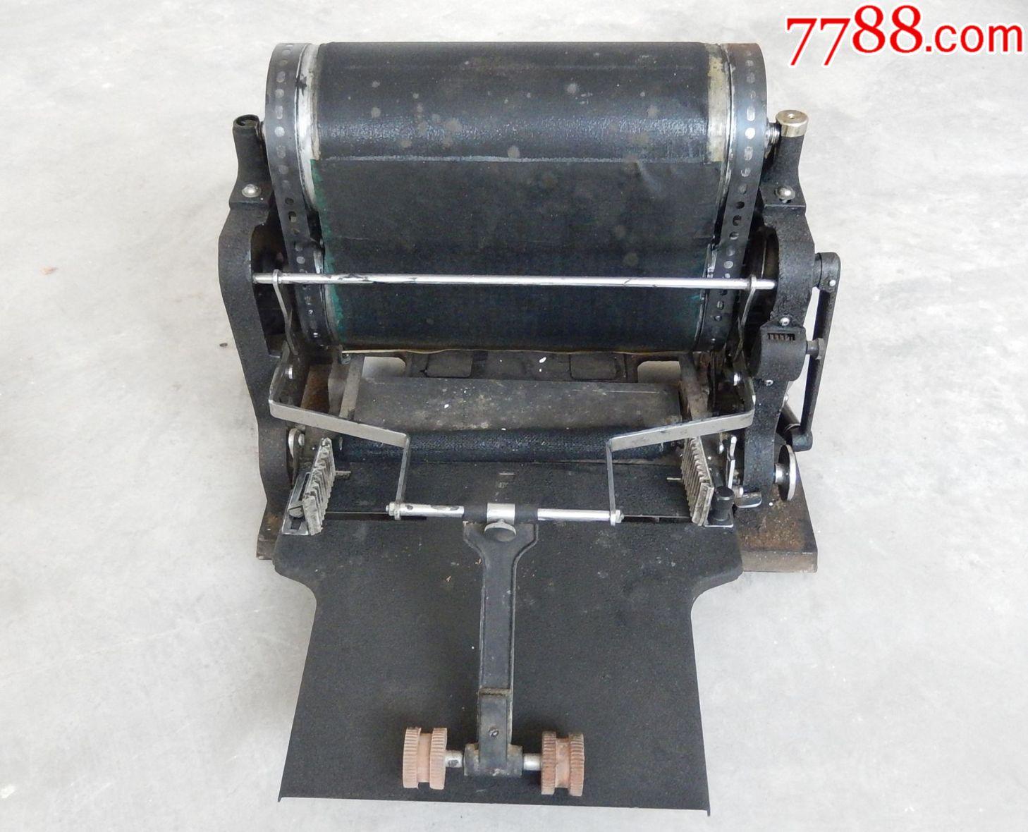 老印刷机、油印机老动物、长城牌21型速印机软料设备图片