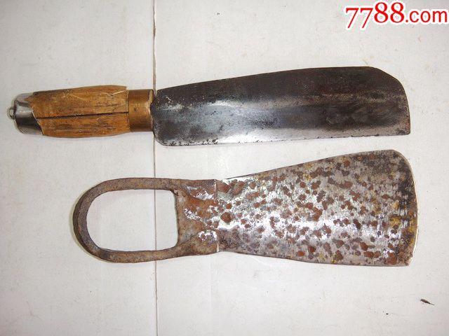 铁匠炉手工打造镢头,柴刀