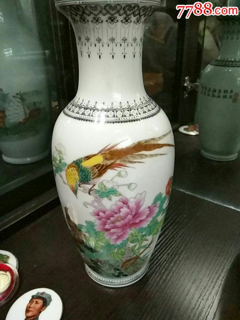 仙鹤松树花瓶