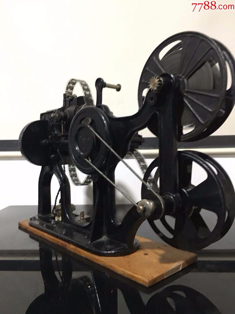 1912年法国百代28毫米手摇电影机放映机图片