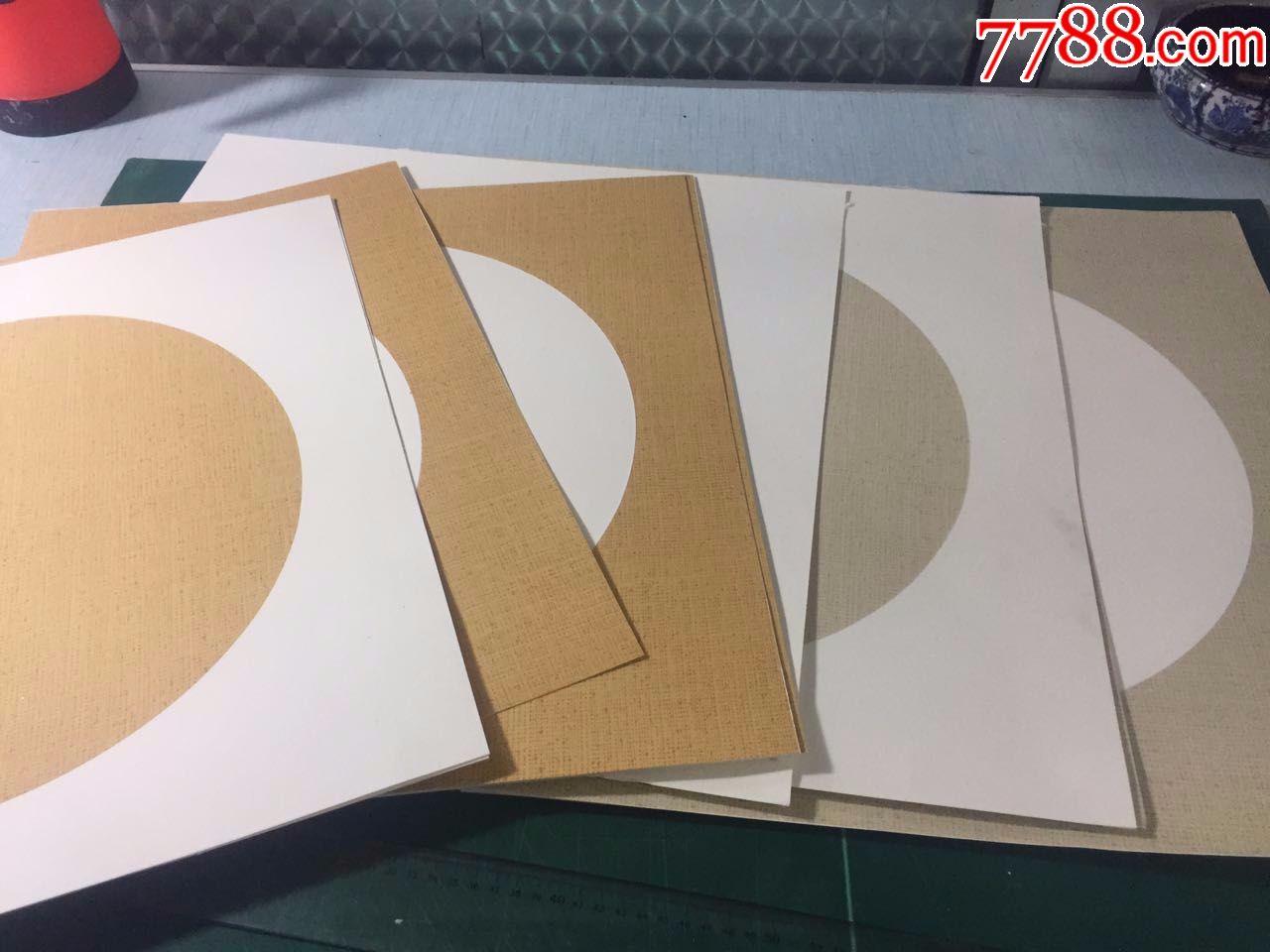 传统手工装裱制作宣纸空白立轴卡纸圆形扇形异型各种宣纸制品