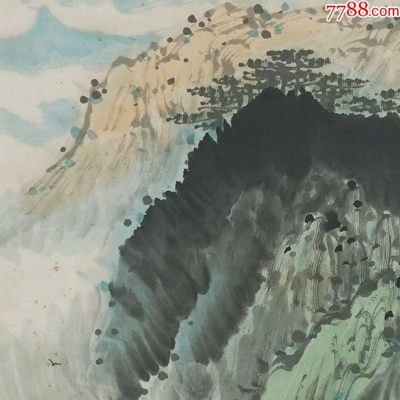 山居图陈衡恪中堂画真手工绘国画风景山水人物名人字画装饰画