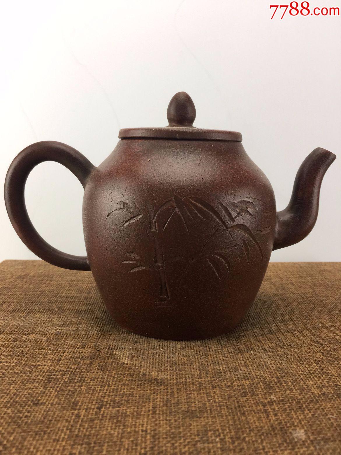 ahungse_乡下收来的竹叶诗词老茶壶a-se53668328-紫砂壶-零售