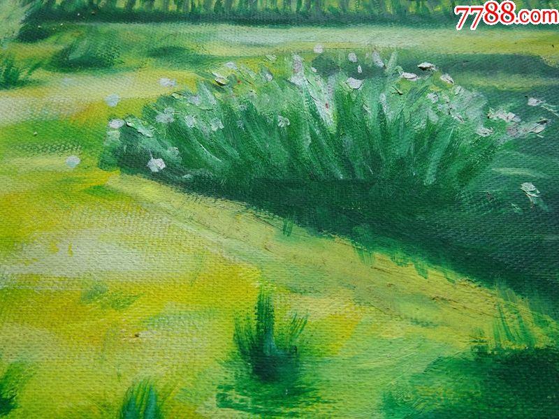 手绘油画作品《风景》2