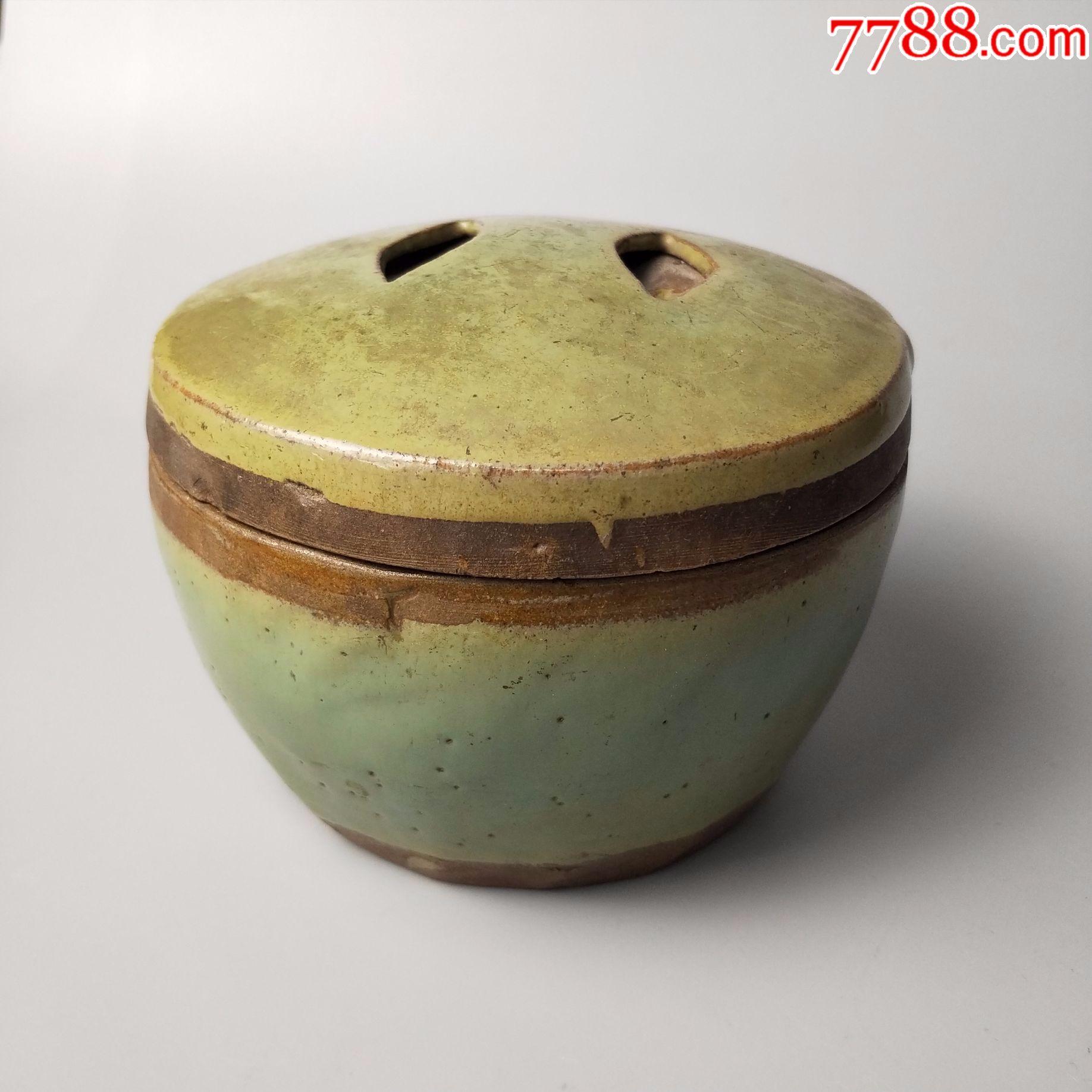 民国绿釉陶罐糖盐罐小罐茶叶罐陶瓷器生活老物件图片