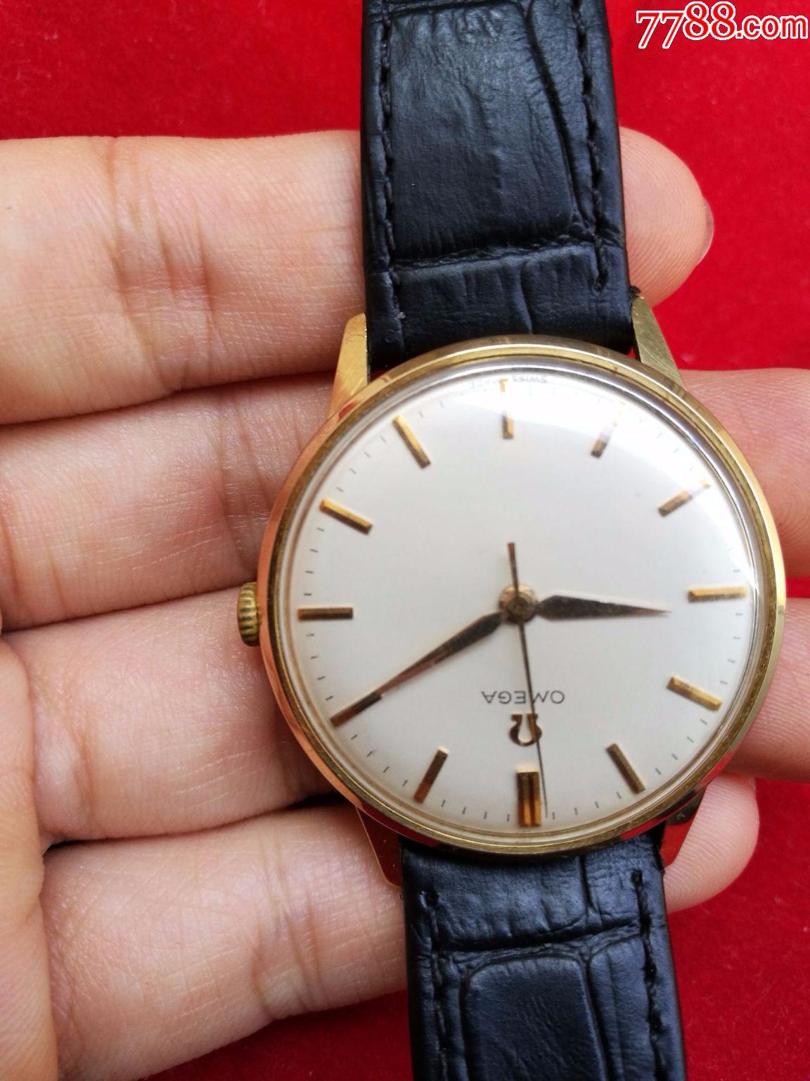 二手【14k实金】瑞士机械原产欧米伽男表手动男士手表图片