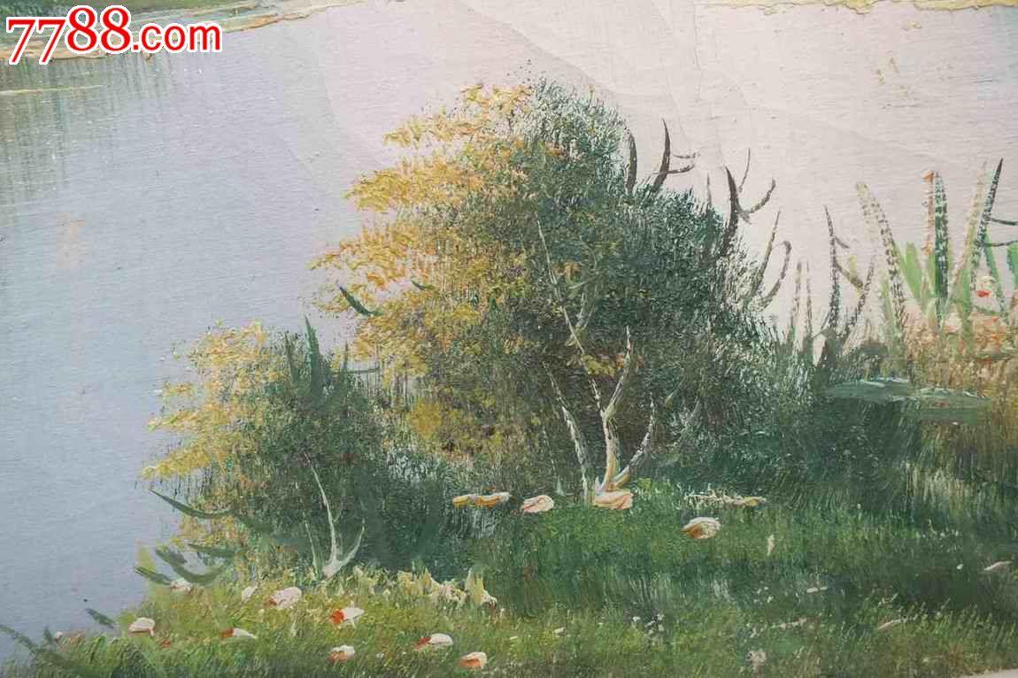 巨幅油画风景,画面尺寸为145厘米乘75厘米