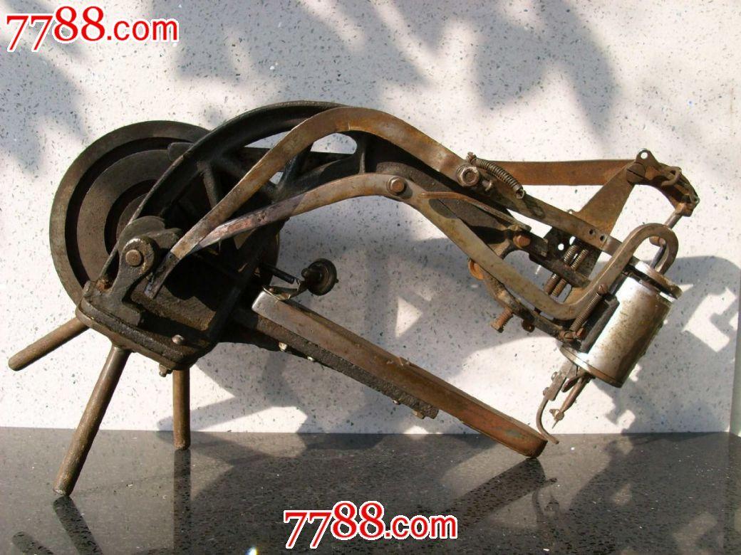 古玩杂项老旧金属器具小设备机械铁钢锡制品收藏手摇补鞋机