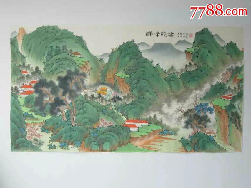 中国现代工笔画学会副主席耿昭春山水作品