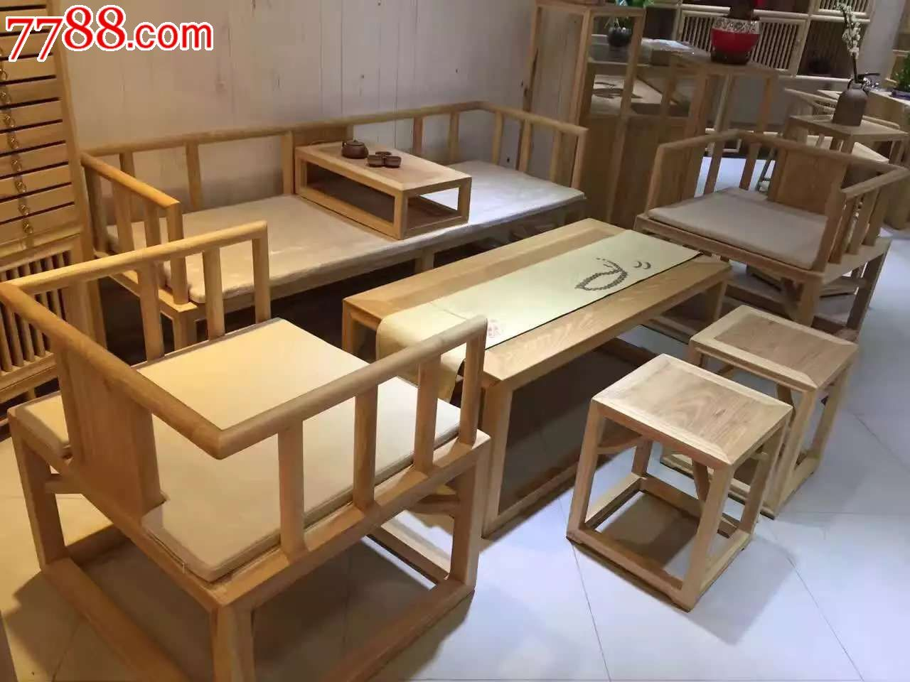 新中式禅意家具柏腊木